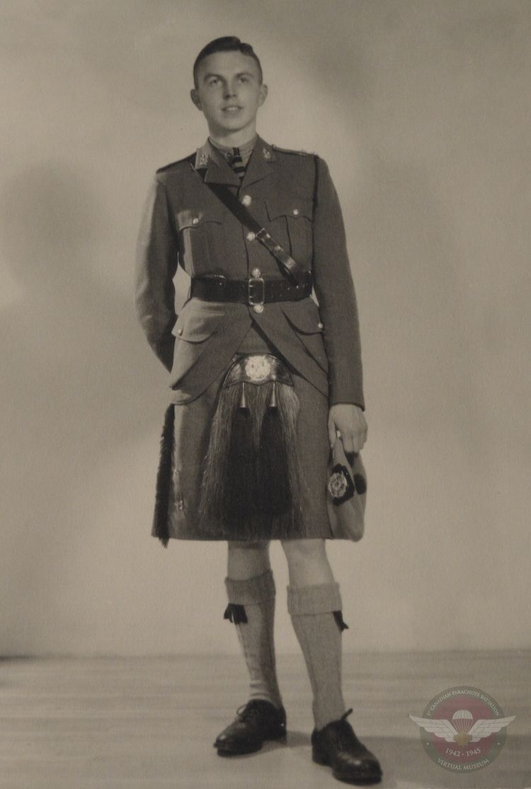 Hilborn In Toronto Scottish Uniform