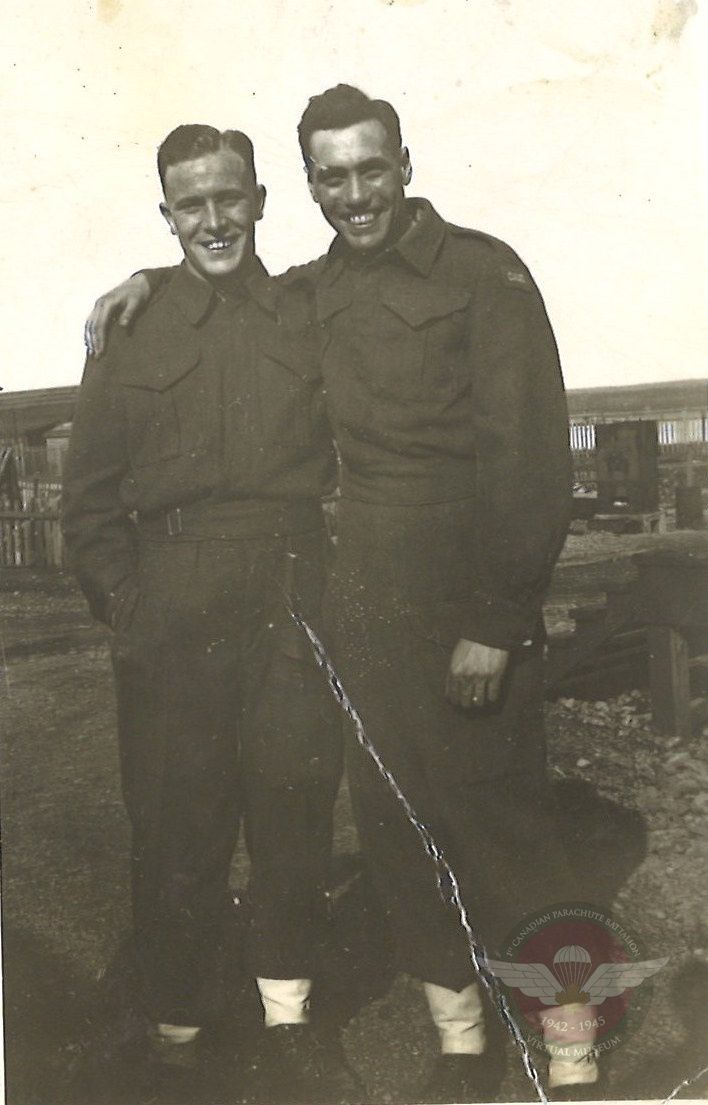 James Moneypenny With Buddy In Uniform 194