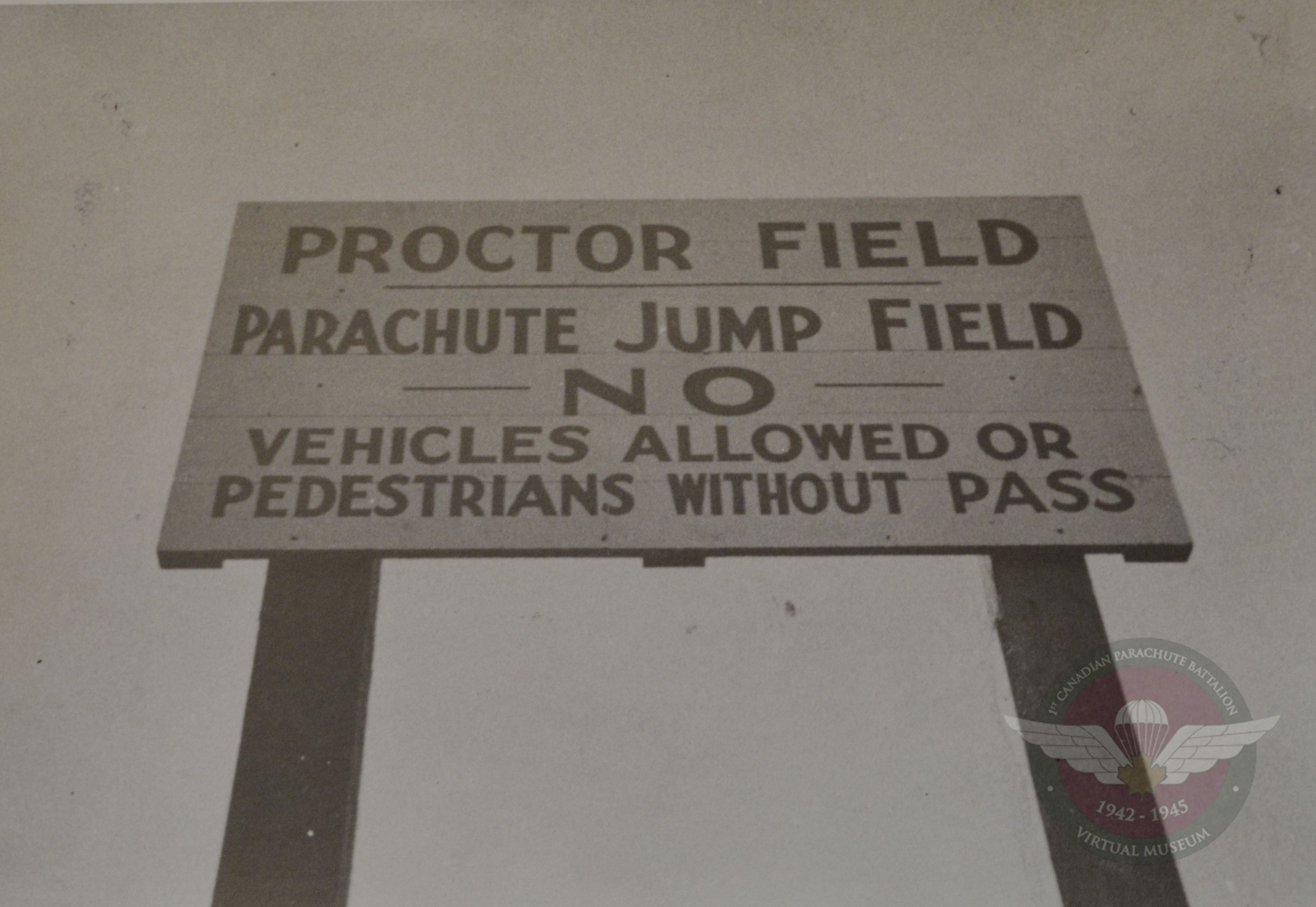 Sign Out At Proctor Field Camp Shilo 1943