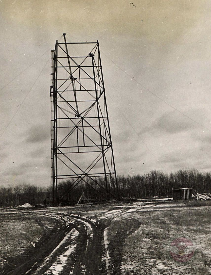 Jump Tower In Early Stages Of Construction   Shilo Manitoba
