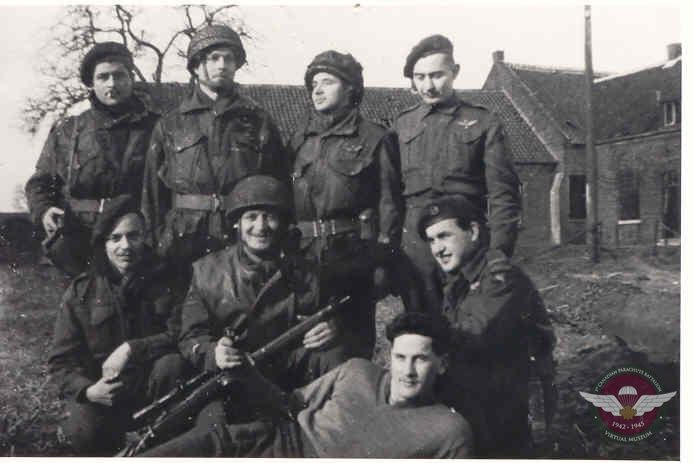 Jan Front Row Left W Group Buggenum Holland  1945
